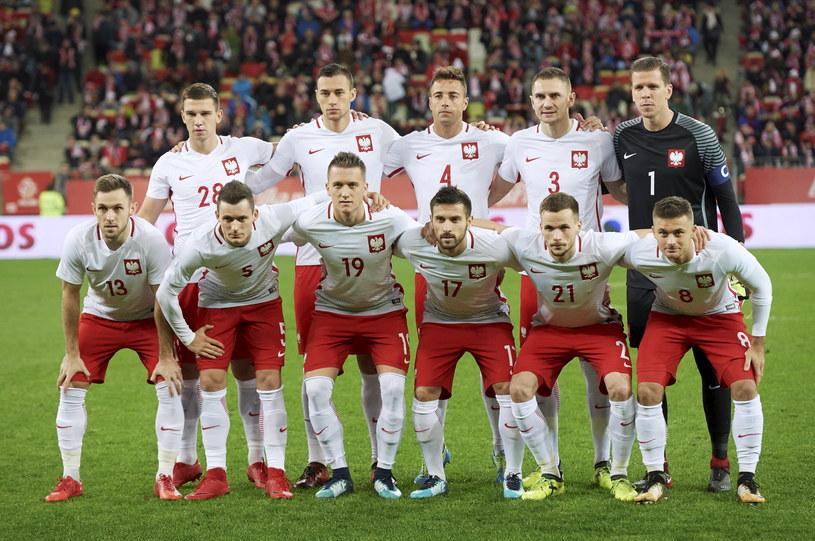 Reprezentacja Polski przed meczem z Meksykiem /Adam Warżawa /PAP