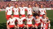 Reprezentacja Polski przed meczem z Rumunią w 2002 roku.