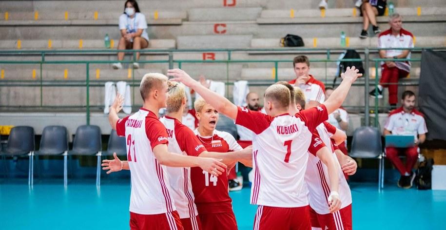 Reprezentacja Polski U-18 w trakcie mistrzostw Europy /Polska Siatkówka /