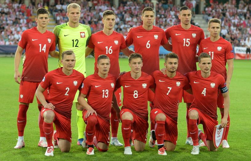 Reprezentacja Polski U21 przed meczem z Anglią /Piotr Polak /PAP