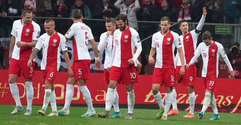 Reprezentacja Polski w meczu ze Słowenią /AFP
