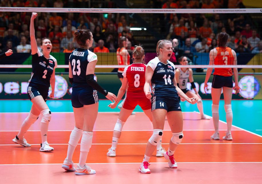 Reprezentacja Polski w siatkówce kobiet podczas meczu z Niderlandami /fivb /