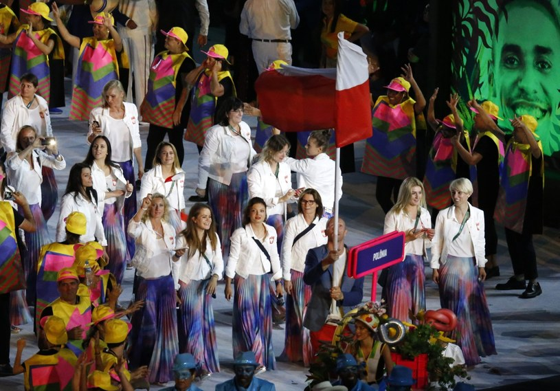 Reprezentacja Polski wchodzi na stadion Maracana /PAP/EPA