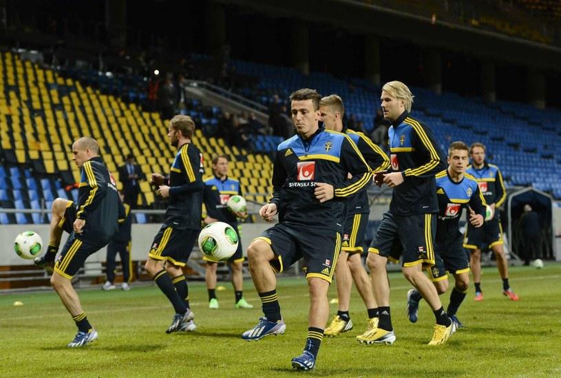 Reprezentacja Szwecji podczas treningu na Friends Arena /AFP
