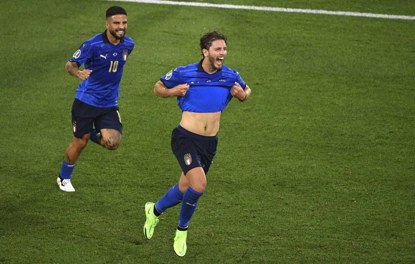 Reprezentacja Włoch wygrywająca ze Szwajcarią na Euro 2020 /Abaca /Newspix