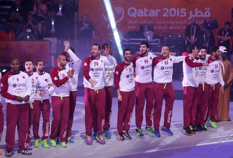 Reprezentanci Kataru na podium mistrzostw świata /AFP