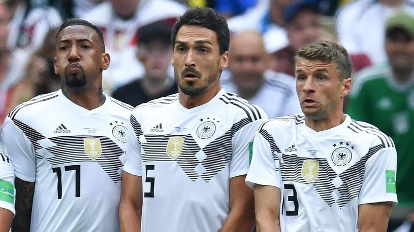 Reprezentanci Niemiec: Jerome Boateng i Mats Hummels i Thomas Mueller /Getty Images