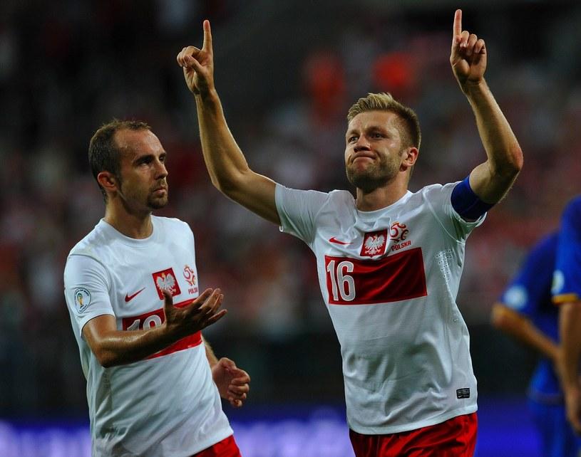 Reprezentanci Polski Adrian Mierzejewski i Jakub Błaszczykowski /AFP