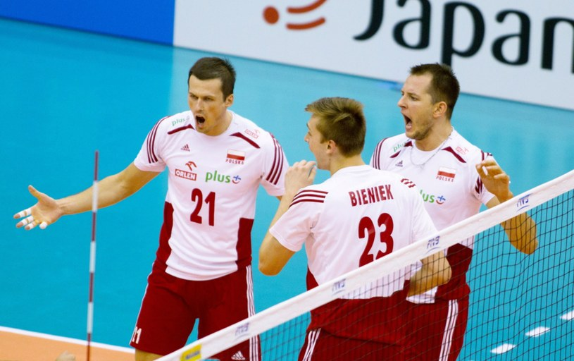 Reprezentanci Polski cieszą się z punktu zdobytego w meczu z Rosją /PAP