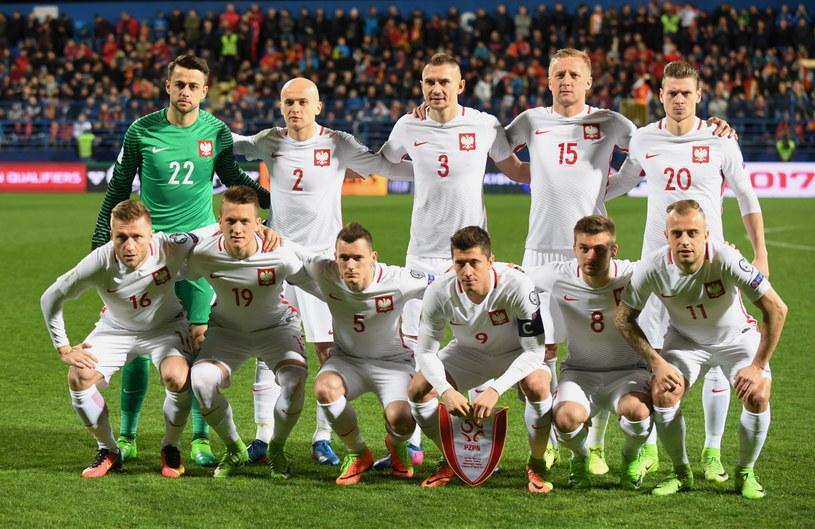 Reprezentanci Polski przed meczem w Podgoricy /PAP