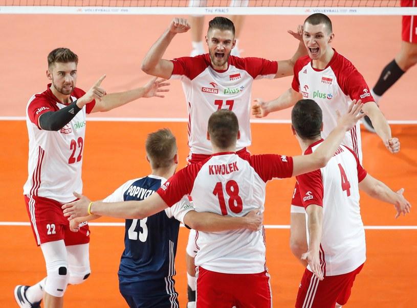 Reprezentanci Polski zrobili furorę w finale Ligi Narodów. W zespole był m.in. Jakub Popiwczak /AFP