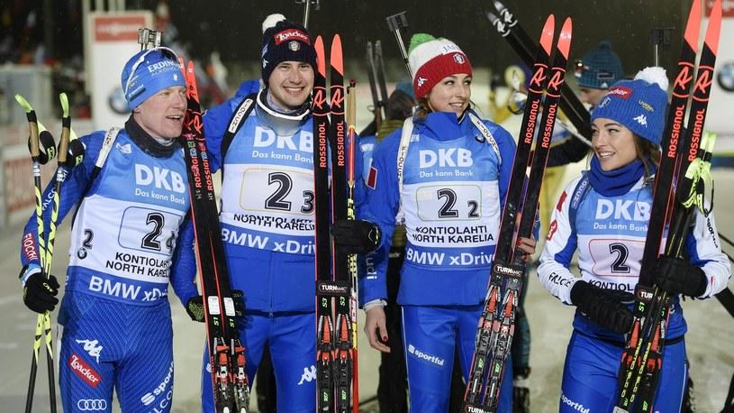 reprezentancie Włoch: Lukas Hofer, Dominik Windisch, Lisa Vittozzi i Dorothea Wierer /Getty Images