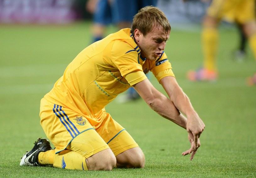 Reprezentant Ukrainy i piłkarz Dynama Kijów Ołeh Husiew /AFP