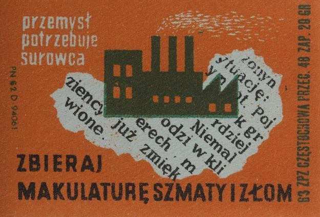 Reprodukcja etykiety zapałczanej. Fot. Jacek Wajszczak /Reporter