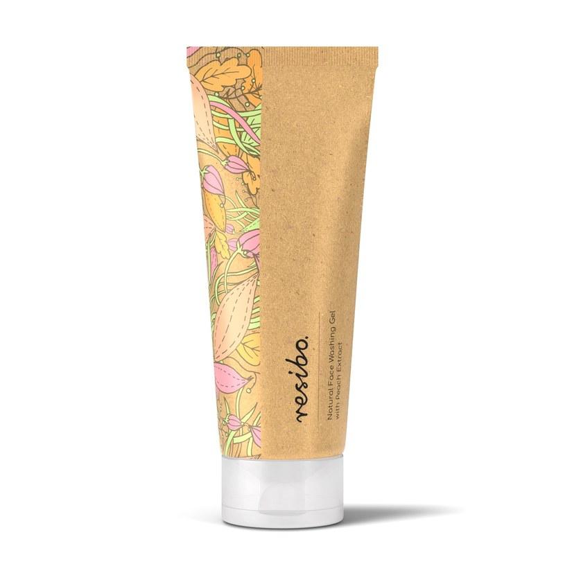 resibo: Naturalny żel myjący do twarzy z ekstraktem z brzoskwini /materiały prasowe
