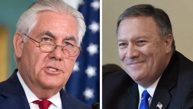 Rex Tillerson i Mike Pompeo /MICHAEL REYNOLDS / OLIVIER DOULIERY /PAP/EPA
