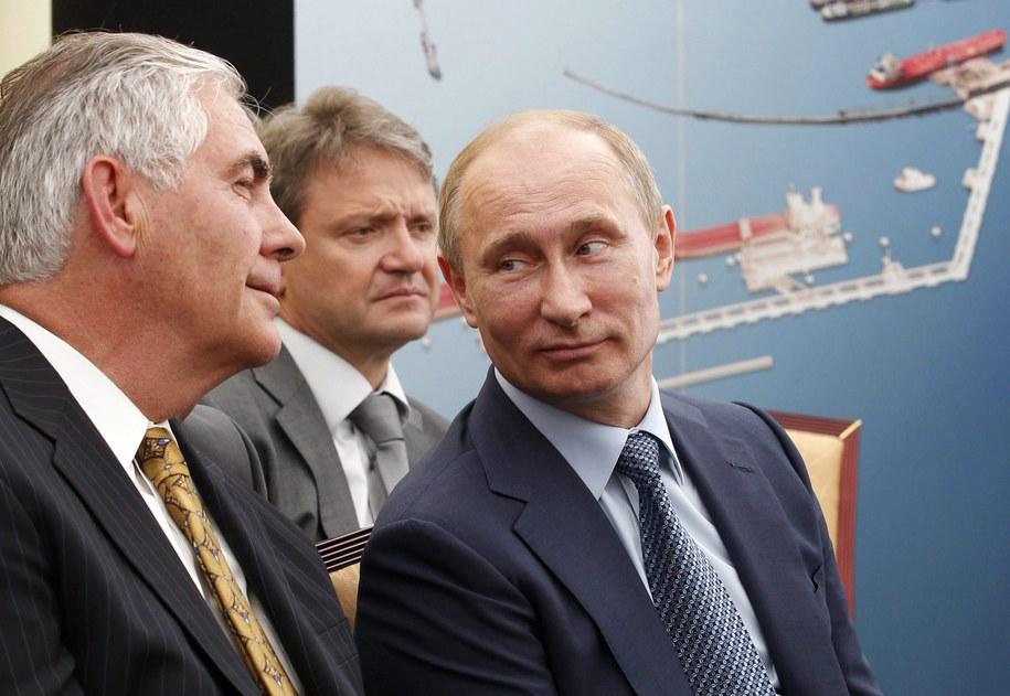 Rex Tillerson i prezydent Rosji /MIKHAIL KLIMENTYEV / RIA NOVOSTI /PAP/EPA