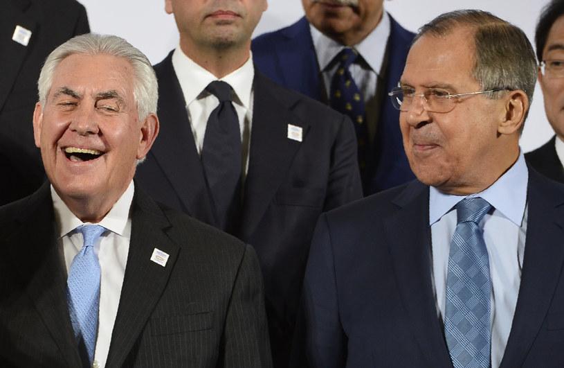 Rex Tillerson i Siergiej Ławrow /AFP