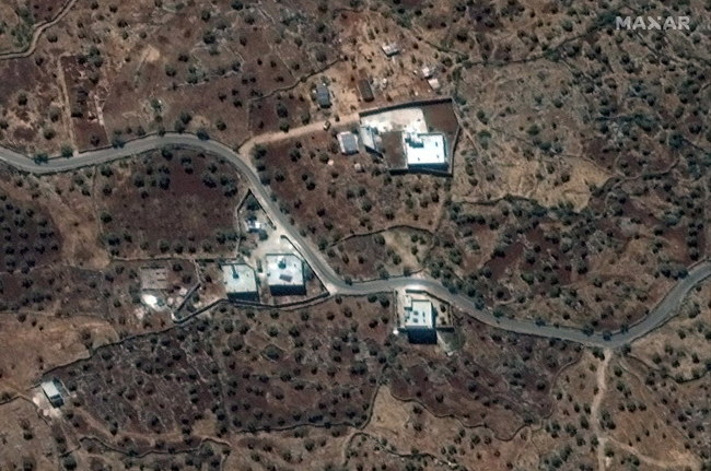 Rezydencja przywódcy ISIS, Abu Bakra al-Bagdadiego w północno-zachodniej Syrii, w pobliżu wioski Barisha /MAXAR HANDOUT /PAP/EPA