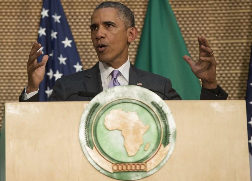 rezydent USA Barack Obama przemawiał na forum Unii Afrykańskiej w stolicy Etiopii, Addis Abebie /AFP
