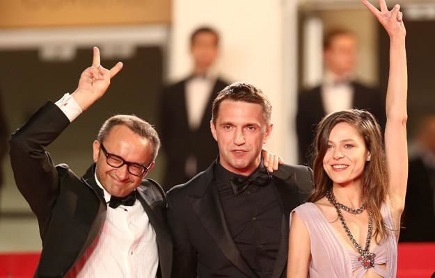 Reżyser Andriej Zwiagincew oraz aktorzy Vladimir Vdovichenkov i Elena Lyadova, fot. Andreas Rentz /Getty Images