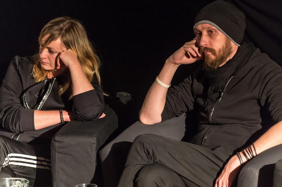 Reżyser teatralna Monika Strzępka i dramaturg Paweł Demirski /Maciej Kulczyński /PAP