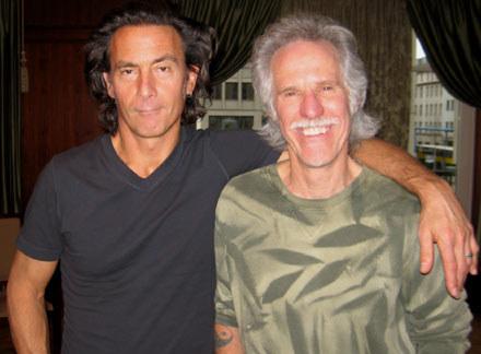 "Reżyser 'When You're Strange"" - Tom DiCillo i perkusista The Doors - John Densmore /INTERIA.PL"