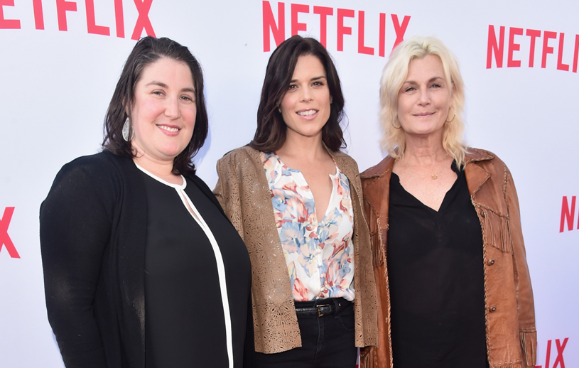 "Reżyserka obsady ""House of Cards"" Julie Schubert, Neve Campbell, Laray Mayfield podczas Netflix Emmy Season Casting Event /Alberto E. Rodriguez /Getty Images"