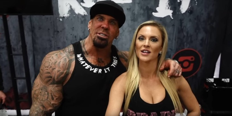 Rich Piana z partnerką; źródło: youtube /