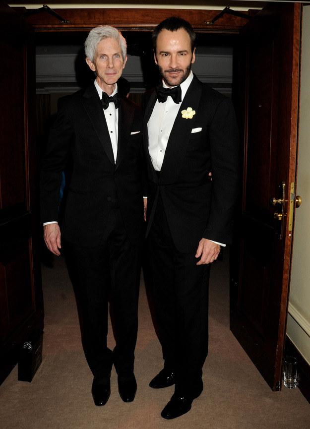 Richard Buckley i Tom Ford na imprezie Bafta /Getty Images