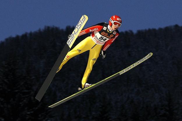 Richard Freitag popisał się znakomitym skokiem na 149 m /AFP