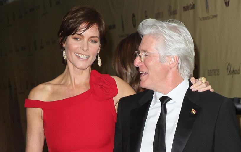 Richard Gere z żoną Carey /Jason Merritt /Getty Images