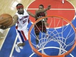 Richard Hamilton kończy skuteczną akcję. Pistons-Heat 106:96 /AFP