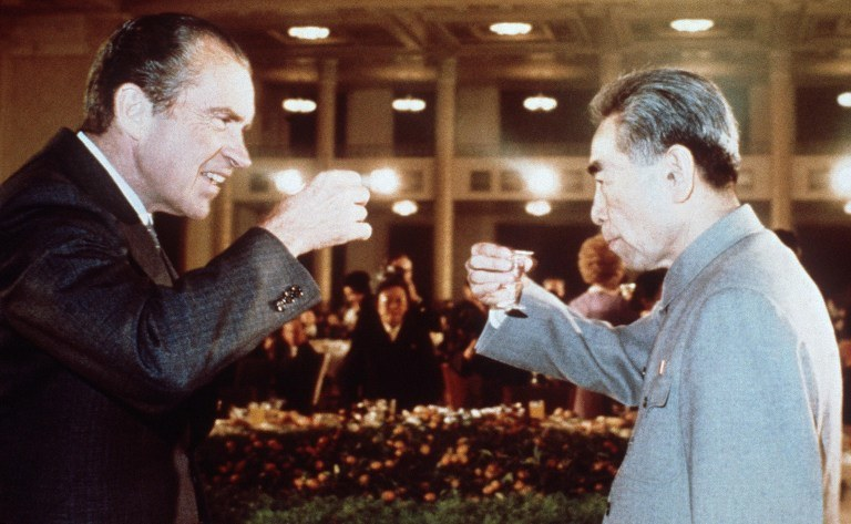 Richard Nixon i chiński premier Chou En Lai w lutym 1972 roku. /AFP