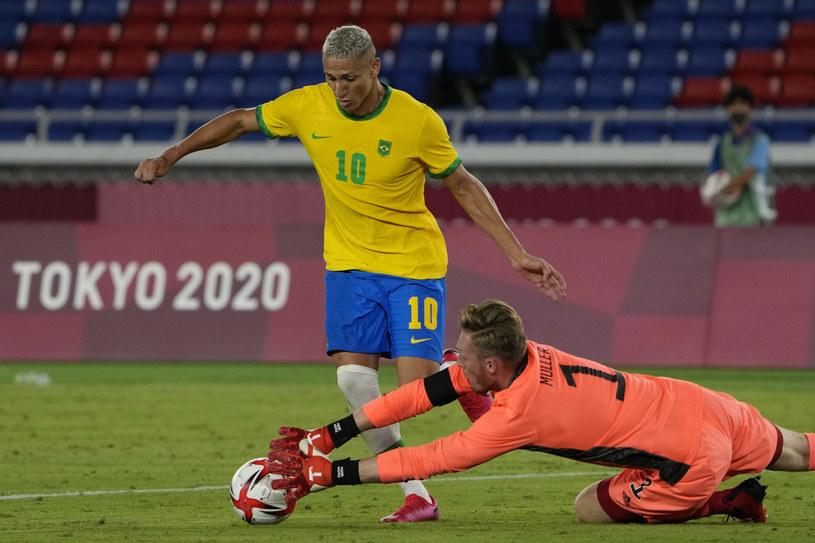 Richarlison w meczu Brazylia - Niemcami /AP /East News