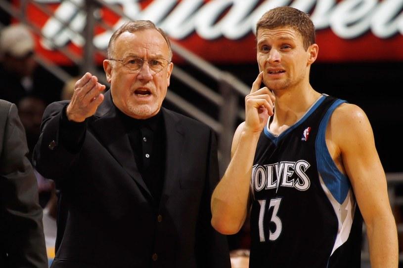 Rick Adelman i Luke Ridnour #13 z Minnesoty Timberwolves /AFP