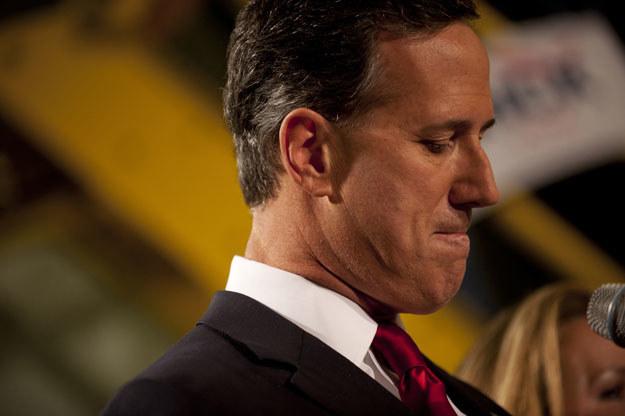 Rick Santorum zapowiada walkę o urząd prezydenta fot. Jeff Swensen / Getty Images North America /AFP