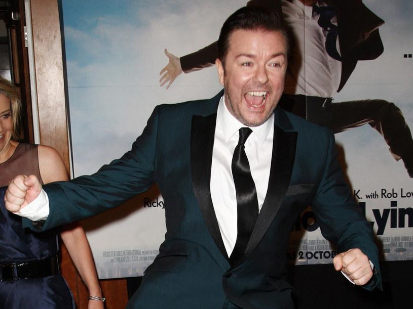 Ricky Gervais w swoim żywiole. /Dave Hogan /Getty Images/Flash Press Media