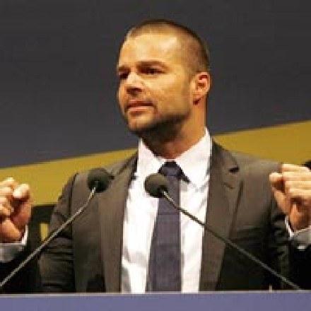 Ricky Martin na konferencji ONZ /arch. AFP