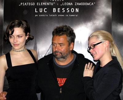 Rie Rasmussen, Luc Besson i Anja Garbarek /INTERIA.PL