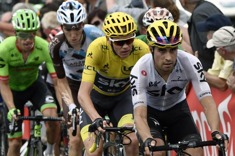 Rigoberto Uran (pierwszy z lewej) /AFP