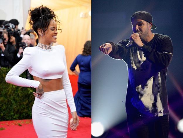 Rihanna (fot. Mike Coppola) pokłóciła się z Drakiem (fot. Ethan Miller) /Getty Images/Flash Press Media
