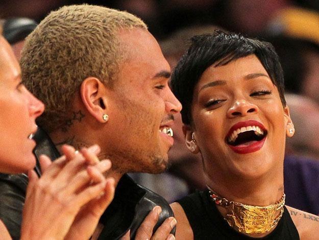 Rihanna i Chris Brown byli ostatnio razem na meczu koszykówki NBA fot. Victor Decolongon /Getty Images/Flash Press Media