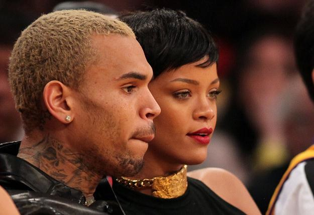 Rihanna i Chris Brown na meczu Los Angeles Lakers fot. Victor Decolongon /Getty Images/Flash Press Media
