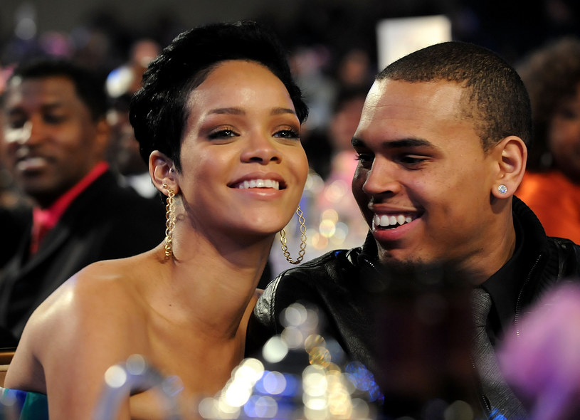 Rihanna i Chris Brown w 2009 roku /Rick Diamond /Getty Images