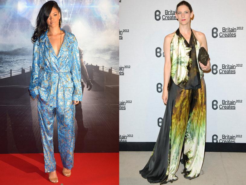 Rihanna i Maria Grachvogel nie wyglądają korzystnie w tym kompleciku /Getty Images