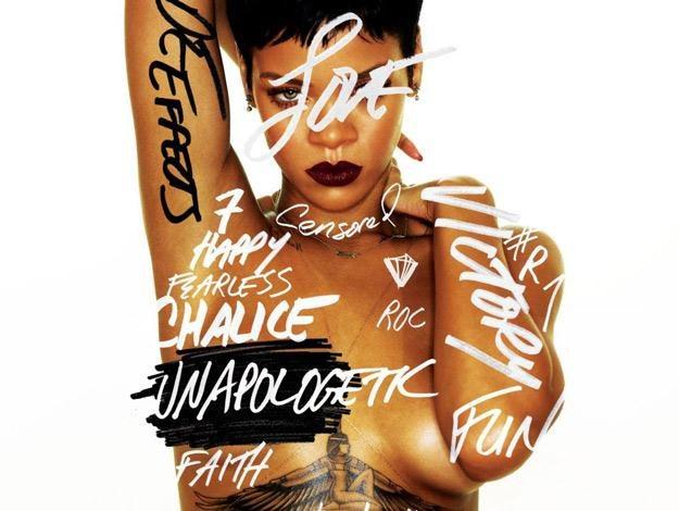 "Rihanna na okładce albumu ""Unapologetic"" /"