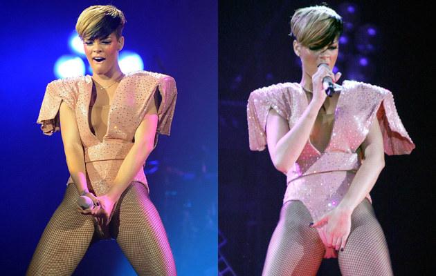 Rihanna podczas swojego show w Liverpoolu  /Agencja FORUM
