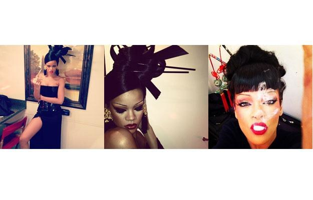 "Rihanna wystylizowana na potrzeby klipu ""Princess of China"". /"