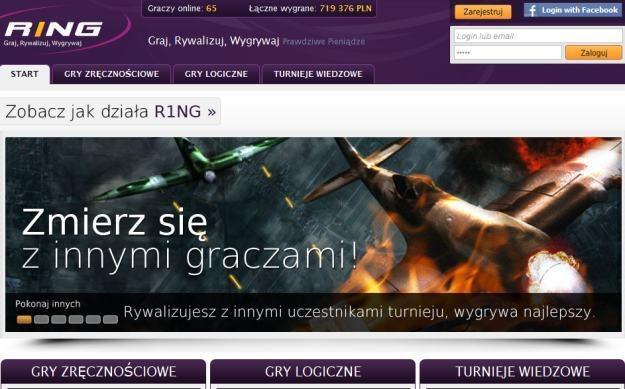 RING to turnieje wiedzowe, gry logiczne i zręcznościowe /INTERIA.PL
